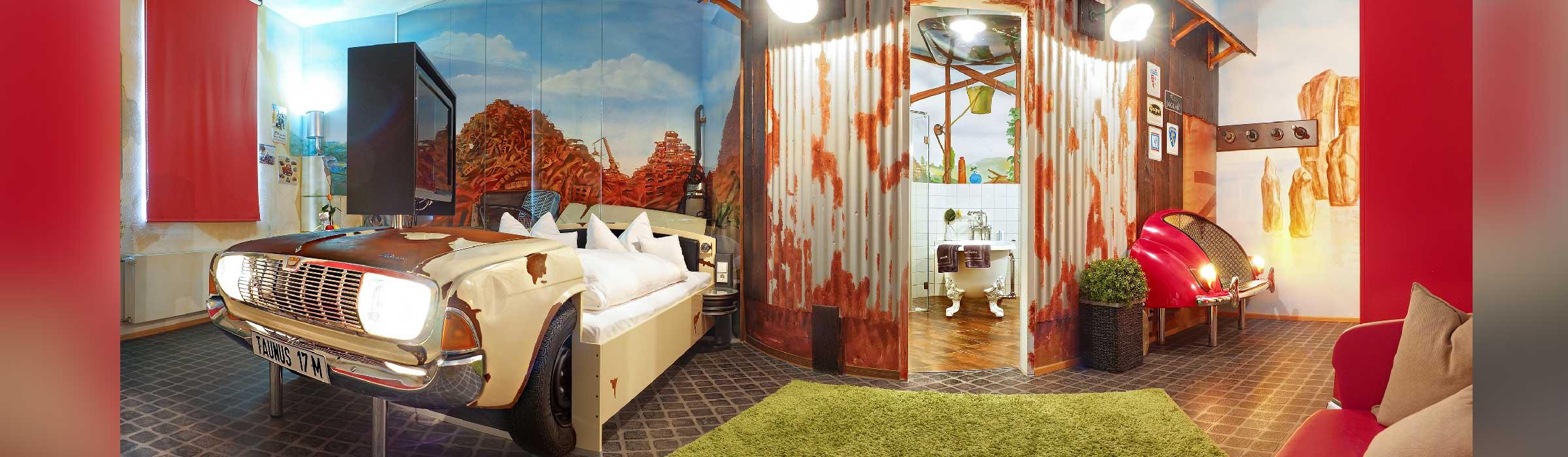 Themenzimmer Nostalgie V8 Hotel