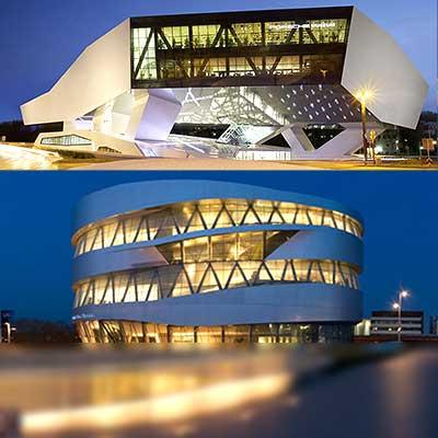 Mercedes-Benz und Porsche Museum, Motorworld und V8 Hotel in einem Arrangement