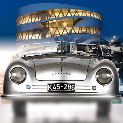 Mercedes-Benz and Porsche Museum, Motorworld and V8 Hotel in a package