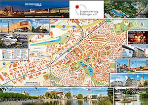 Touristischer Plan Böblingen mit Sehenswürdigkeiten und Beschreibungen zum Download