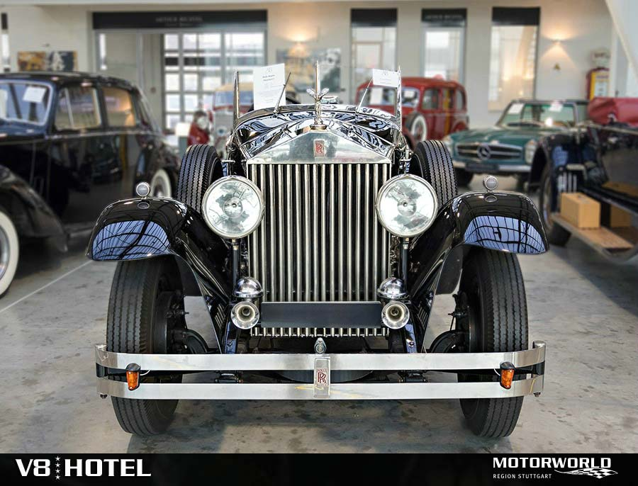 Rolls Royce in der Handelshalle Motorworld Region Stuttgart