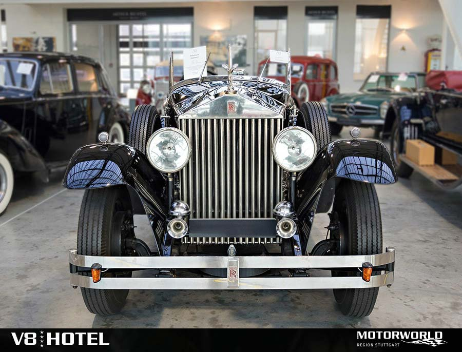 Rolls Royce in the trading hall Motorworld Region Stuttgart